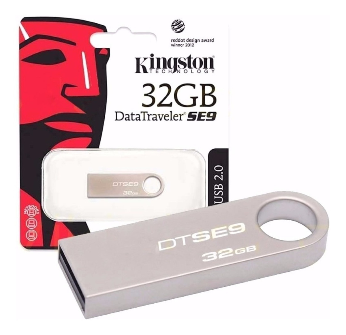 Pendrive Kingston Dt Se9 32gb Pen Drive Metalico Original