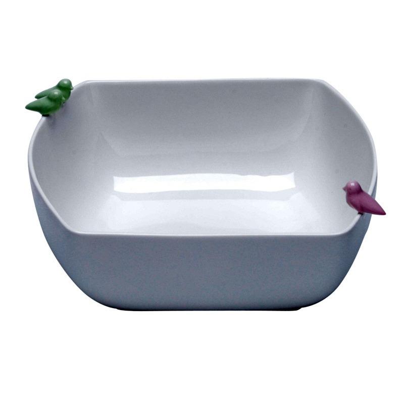 Bowl De Porcelana Bird 21X19,8X9,3Cm - Wolff 31017304