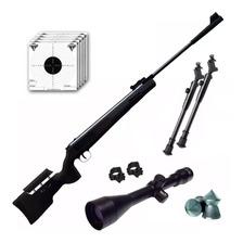 Rifle Aire Comprimido Fox Nitro Magnum Bl + Mira 4x40 Cuotas