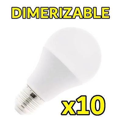 X 10 Lampara Led Dimerizable 10w Rosca E-27 Luz Desing