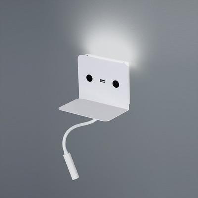 Aplique Bed-usb Con Led 6+3w Blanco Novedad Gmg