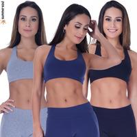 Kit 3 Tops Sem Bojo Fitness Summer Soul