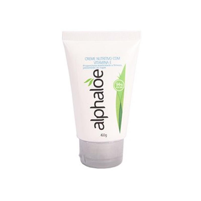 Creme Facial Nutritivo + Vit. E 94% de Aloe - 60g Alphaloe