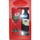 Kit com 1 taça + 1 Vinho Linha Seleção - Adega Terra do Vinho