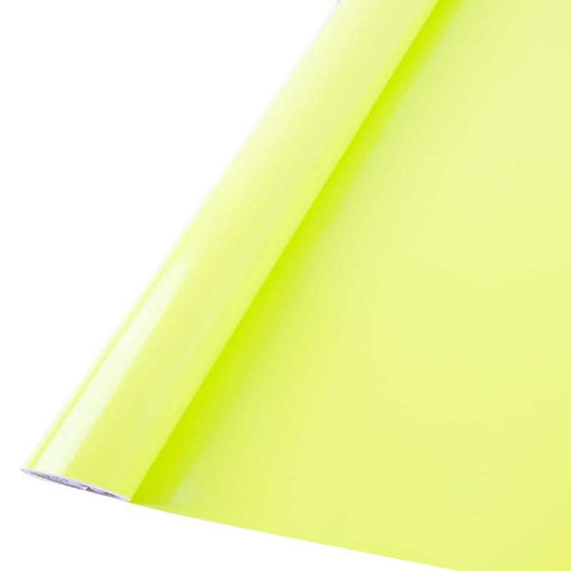 Vinil adesivo Goldmax verde limão 0,61 m