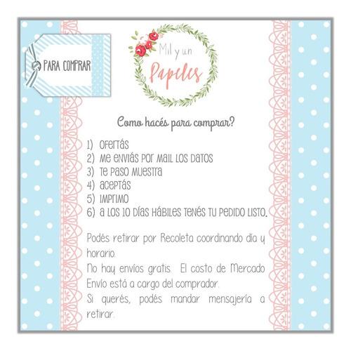 10 Tarjetas Invitación Cumple Unicornio Sticker Banderín En