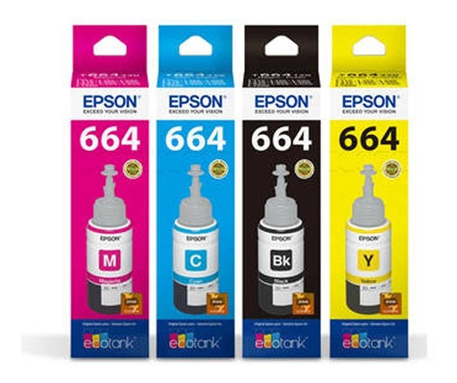 Combo Tinta Original Epson 664 L210 L220 L355 L365 L565 T664