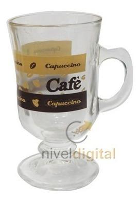 Jarro Jarrito Cafe Capuccino Libbey Vidrio Decorado 120 Ml