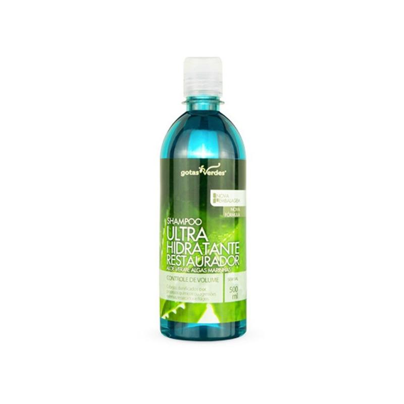 Shampoo UltraHidrat. Rest. Aloe e Algas - 500ml Gotas Verdes