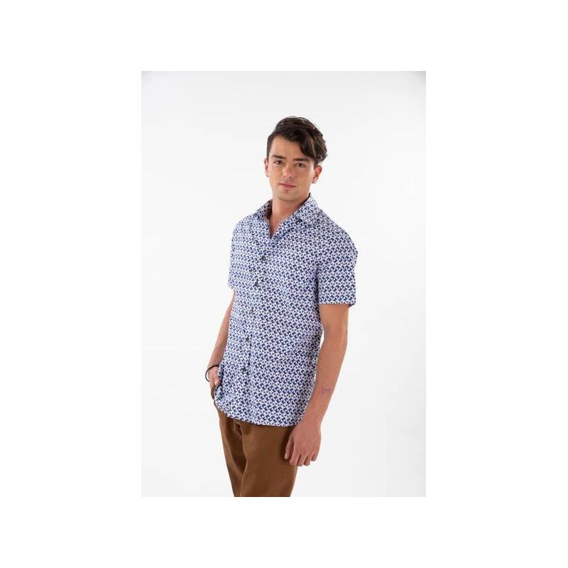 Camisa estampada manga corta 014623