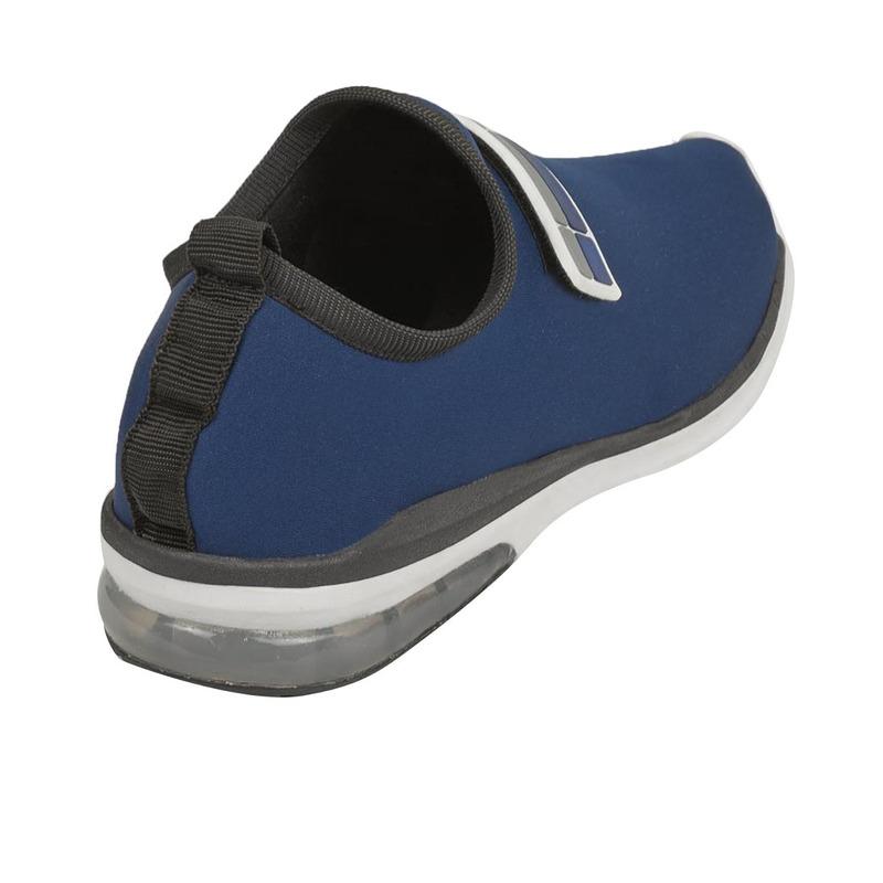 Sneakers azules franja gris 018836