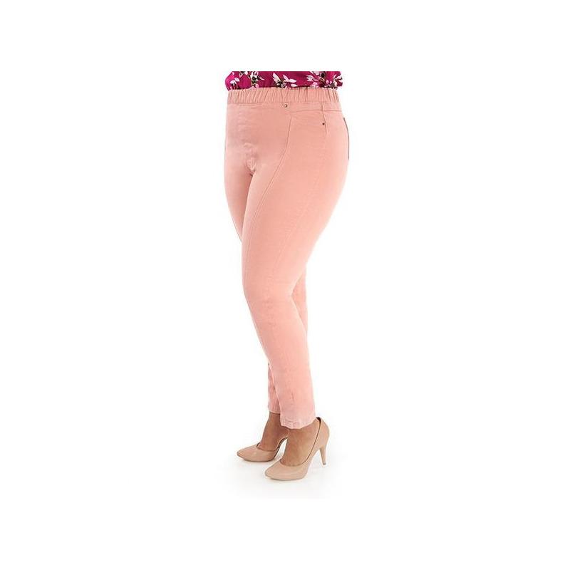 Pantalón rosa con resorte  015611P