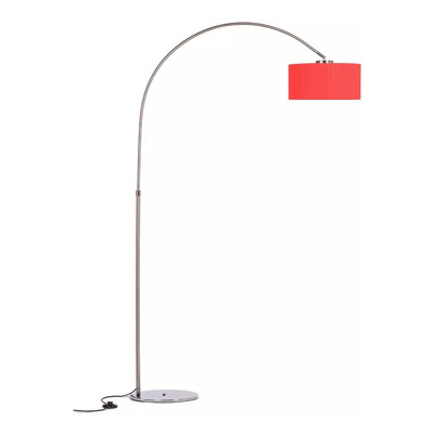 Lampara De Pie Arco Medium De Tela Apto Led Luz Desing