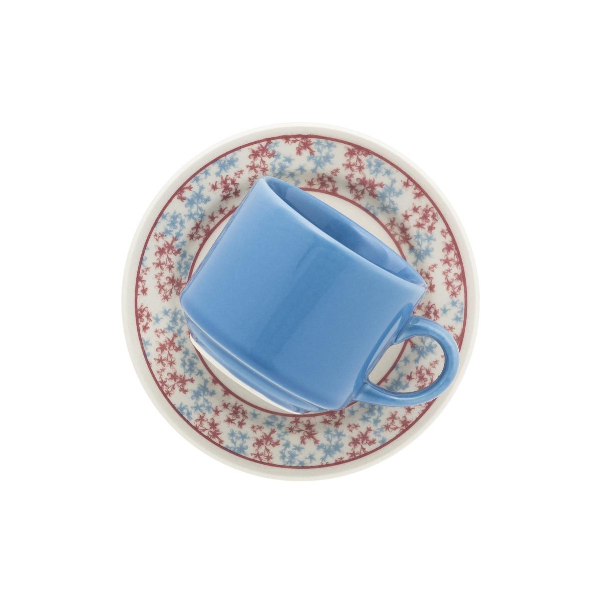 Set X 6 Tazas Plato 210 Ml Loza Biona Deco Melissa Te Cafe