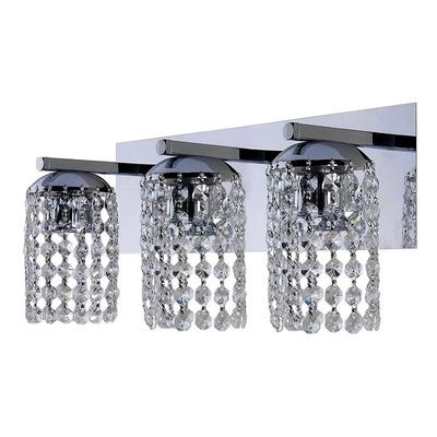 Aplique Lyon 3 Luces Cairel Deco Cristal Cromo Apto Led