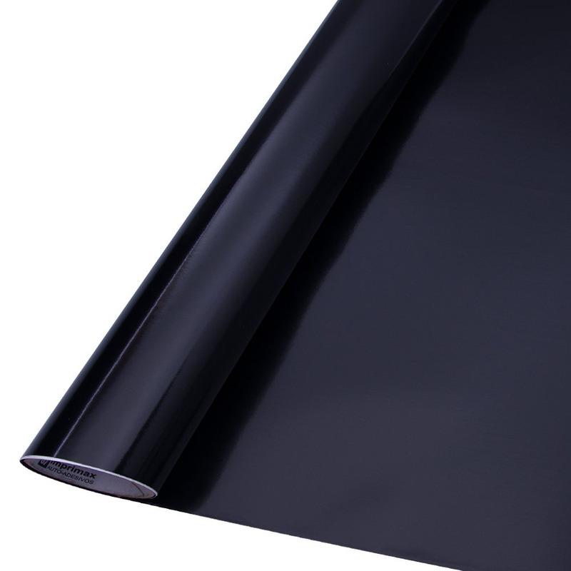 Vinil adesivo colormax preto brilhante larg. 1,0 m