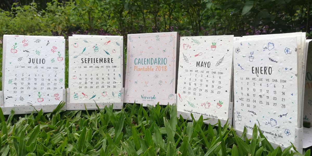 3 Calendarios Plantables 2018