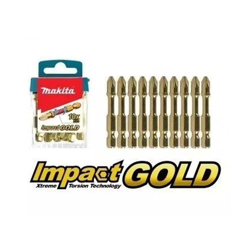 Bit Phillips 25mm PH2 Impact Gold 5 Peças B-28357 Makita