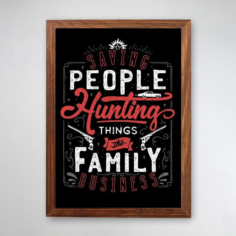 PÔSTER COM MOLDURA - THE FAMILY BUSINESS