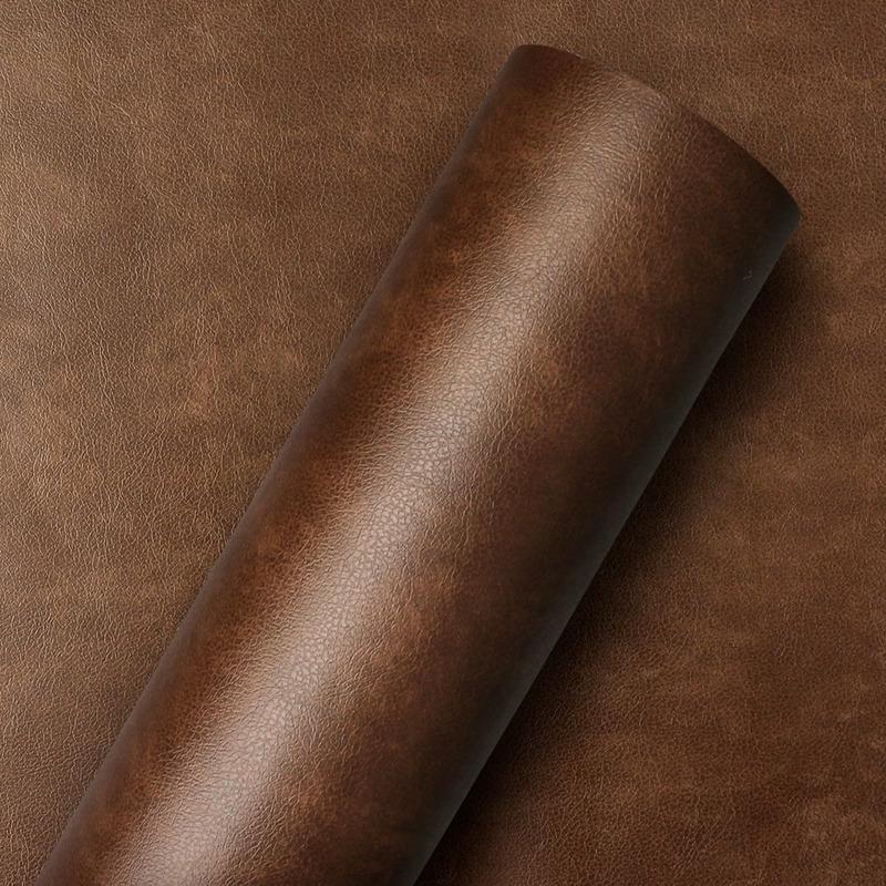 Adesivo para parede  couro café expresso - Larg. 1,22 m