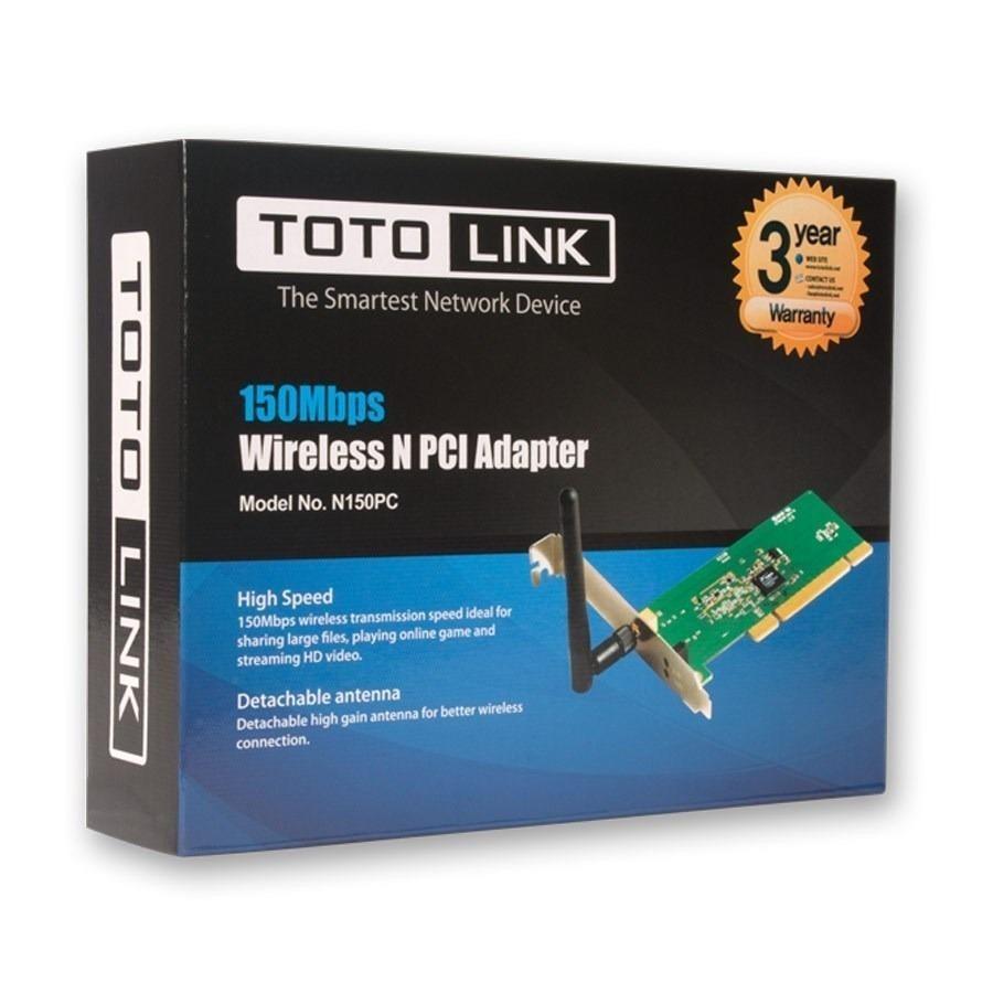 Placa De Red Wi-fi Pci Con Antena Externa Totolink N150pc