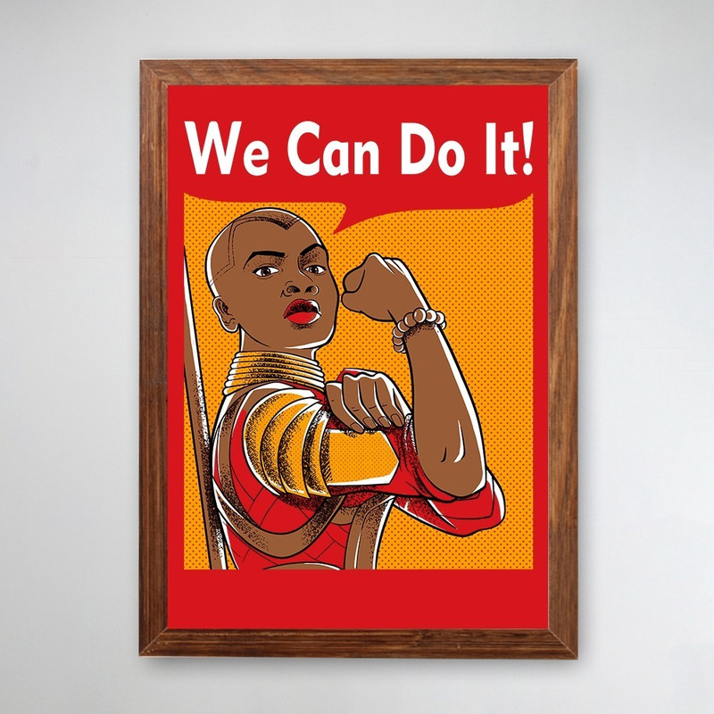 PÔSTER COM MOLDURA - WE CAN DO IT