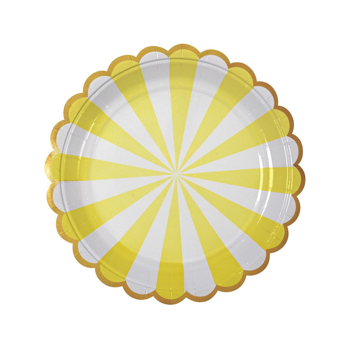 Platos Stripe Amarillos Grandes
