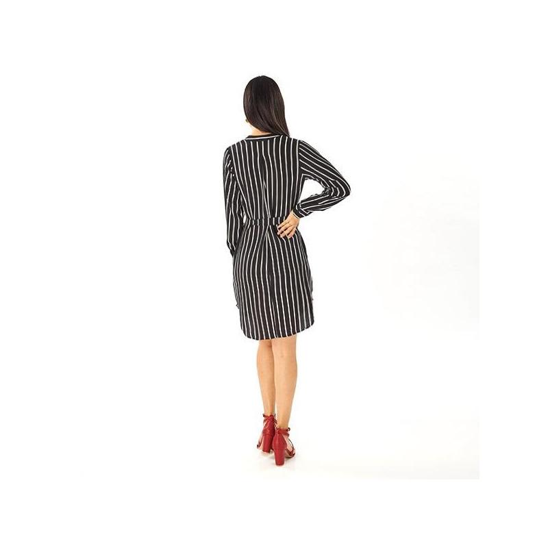 Vestido corto a rayas 015411