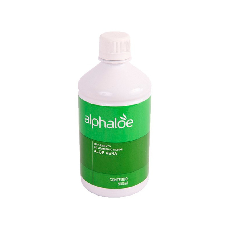 Bebida de Aloe Vera com Vitamina C - 500ml - Alphaloe