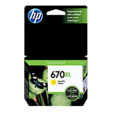 Cartucho Hp Original 670xl Amarillo Cz120al