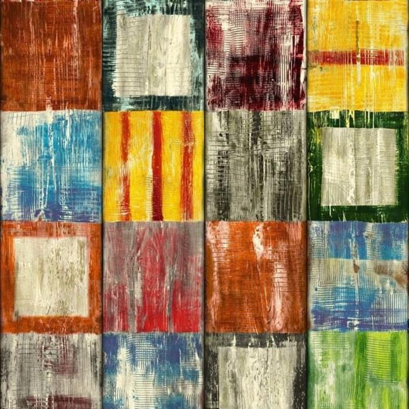 Adesivo para parede madeira colorido bahia 0,90 m