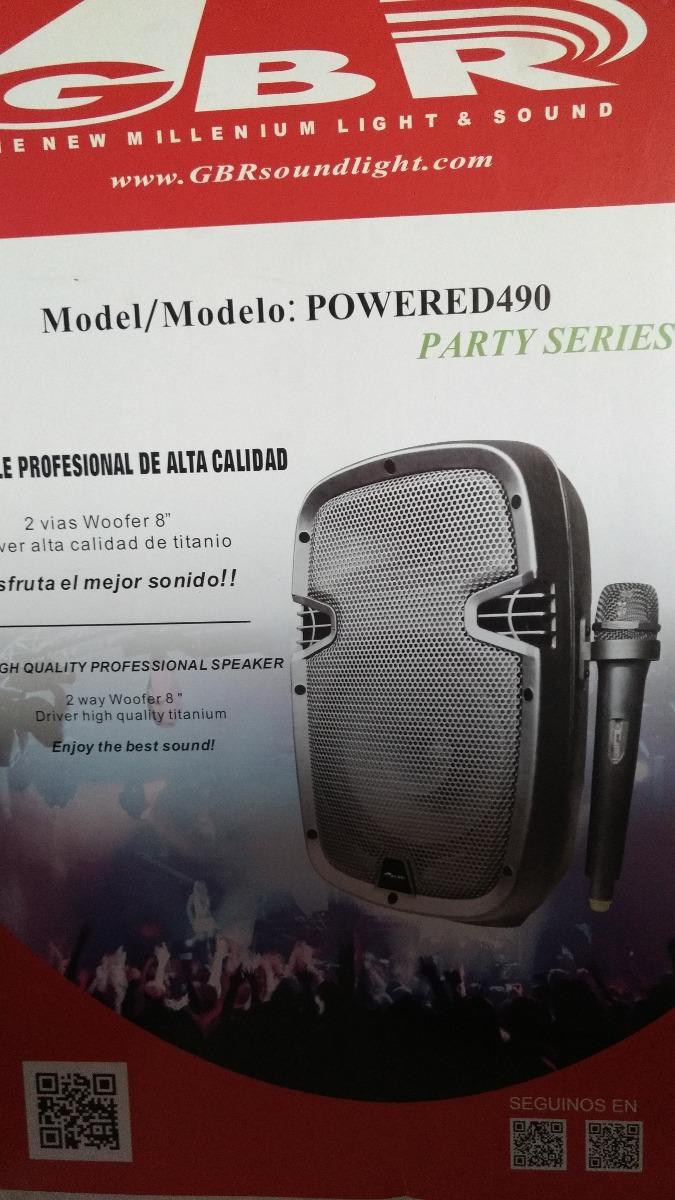 """Bafle GBR 2v 8"""" MP3 batería party"""