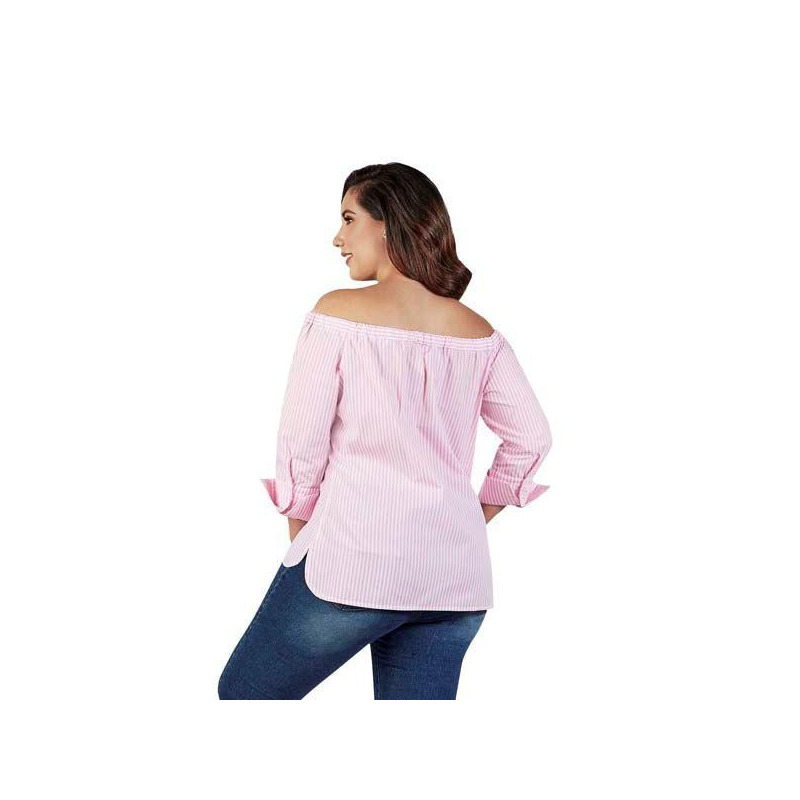 Blusa rosa multicolor 015113