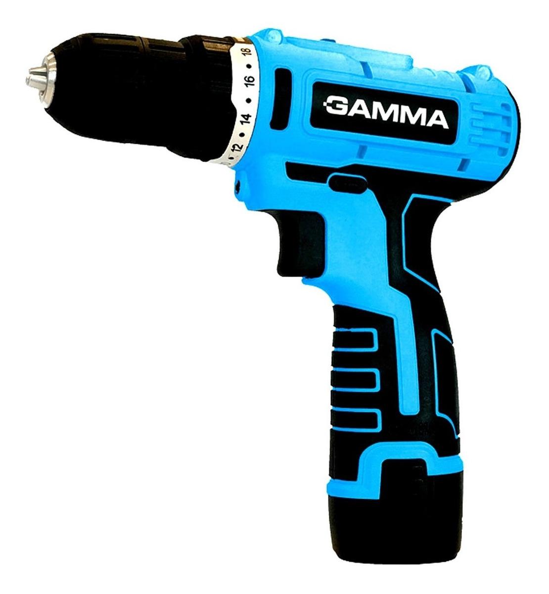 Taladro Inalambrico 12v Litio Gamma G12101ar  +2 Baterias