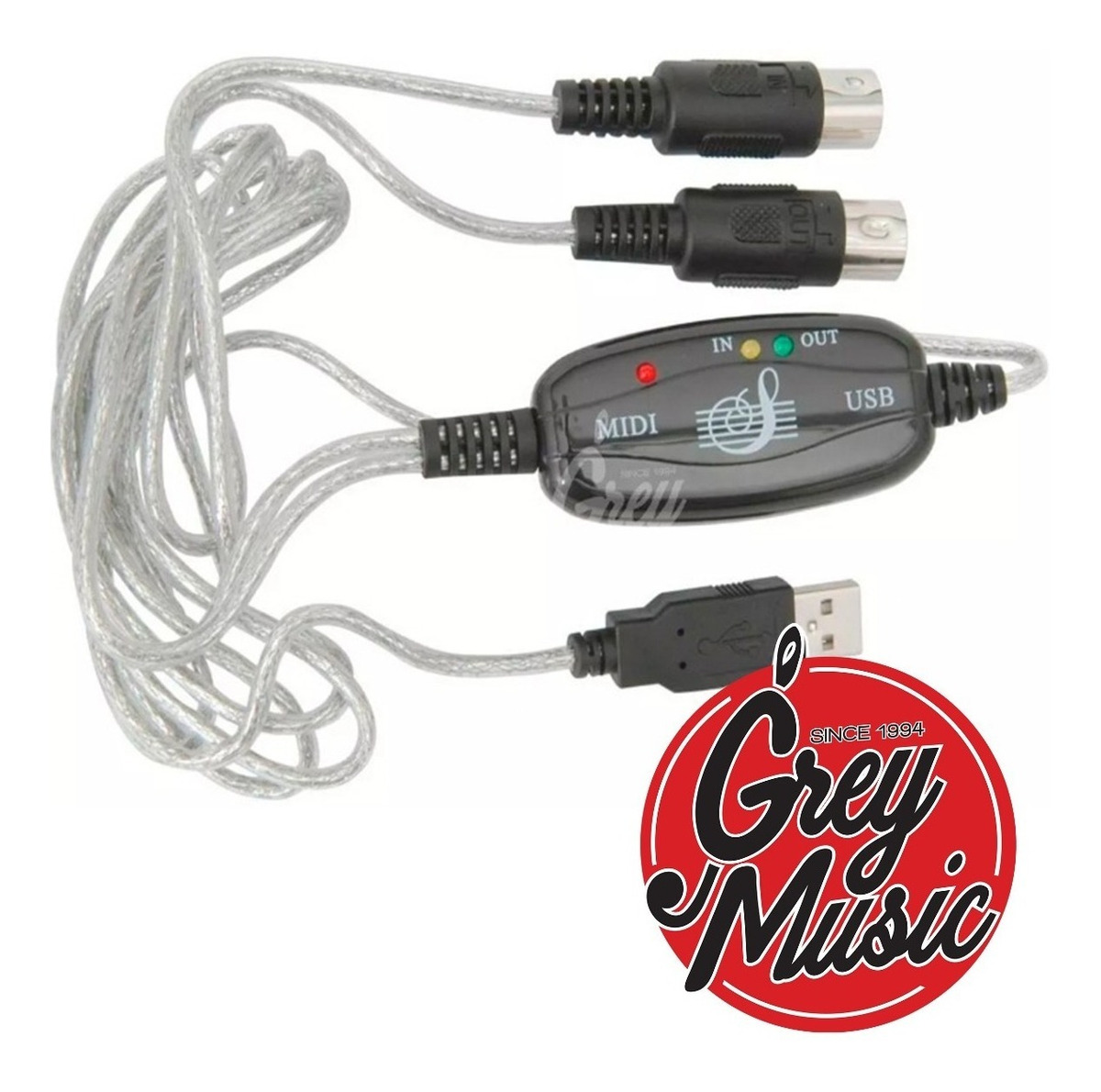 Cable Midi A Usb Teclados Pianos Batería Pc Mac Interface