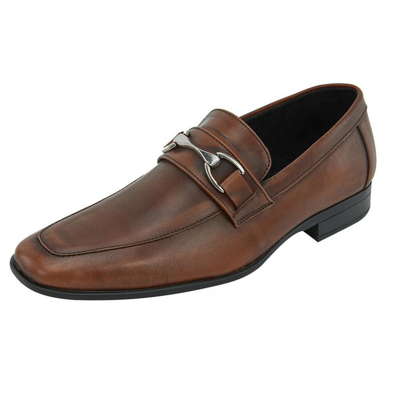 Zapato De Vestir Miel Con Hebilla 017624