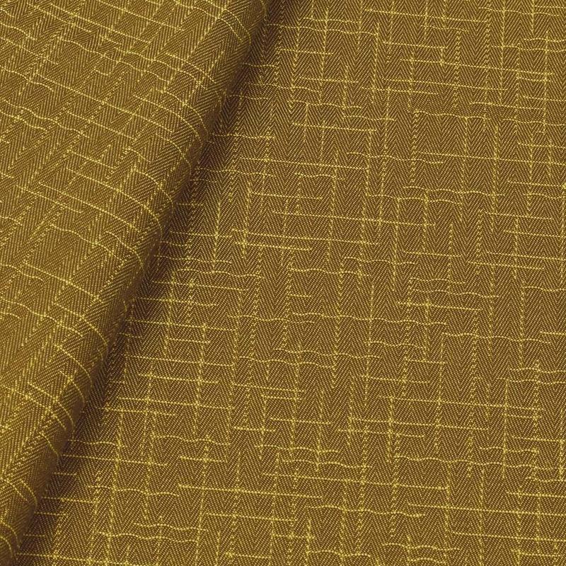 Tecido jacquard para sofá falso liso - amarelo/marrom - Impermeável - Coleção Panamá