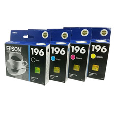 Cartuchos Epson 196 Original 4u Xp-401 411 Wf-2512 2532