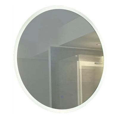 Espejo Redondo Con Led Moderno Tactil Baño Pared N°4