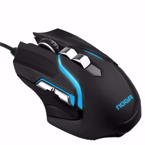 Mouse Gamer Hypnos Metal 3200dpi Led Usb 6 Boton Luz Noga