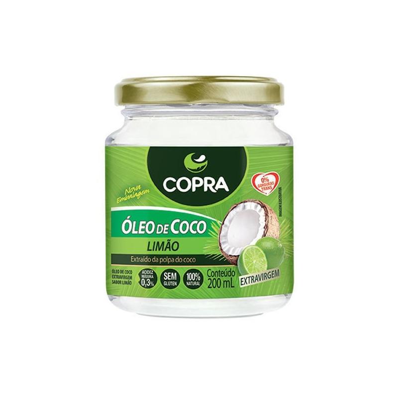 Oleo de Coco Extra Virgem - Sabor Limao -  200ml - Copra