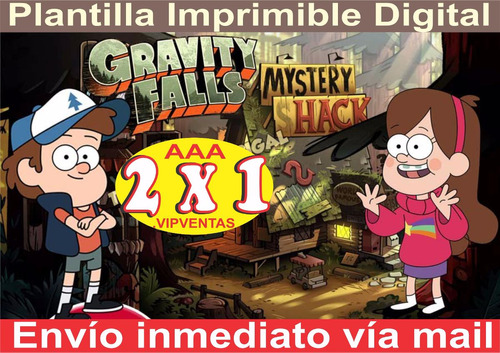 Kit Imprimible Gravity Falls Cotillon Y Candy Bar 2x1 En Venta En