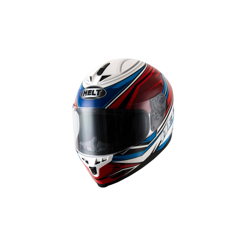 Capacete Helt New Race Step Azul e Vermelho