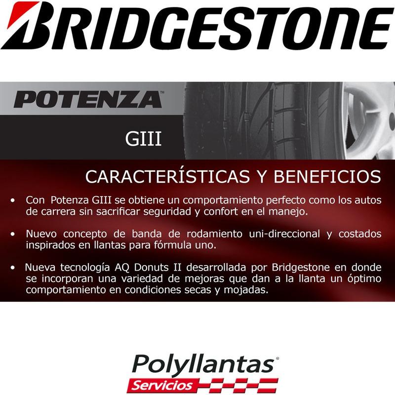 185-60 R14 82H Potenza Giii  Bridgestone