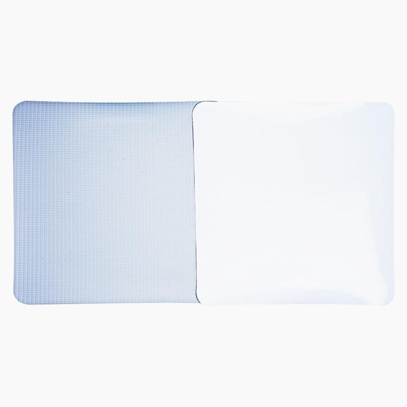 Lona pvc para frontlight Superfront branca brilho avesso cinza (440 g) larg. 2,03 m