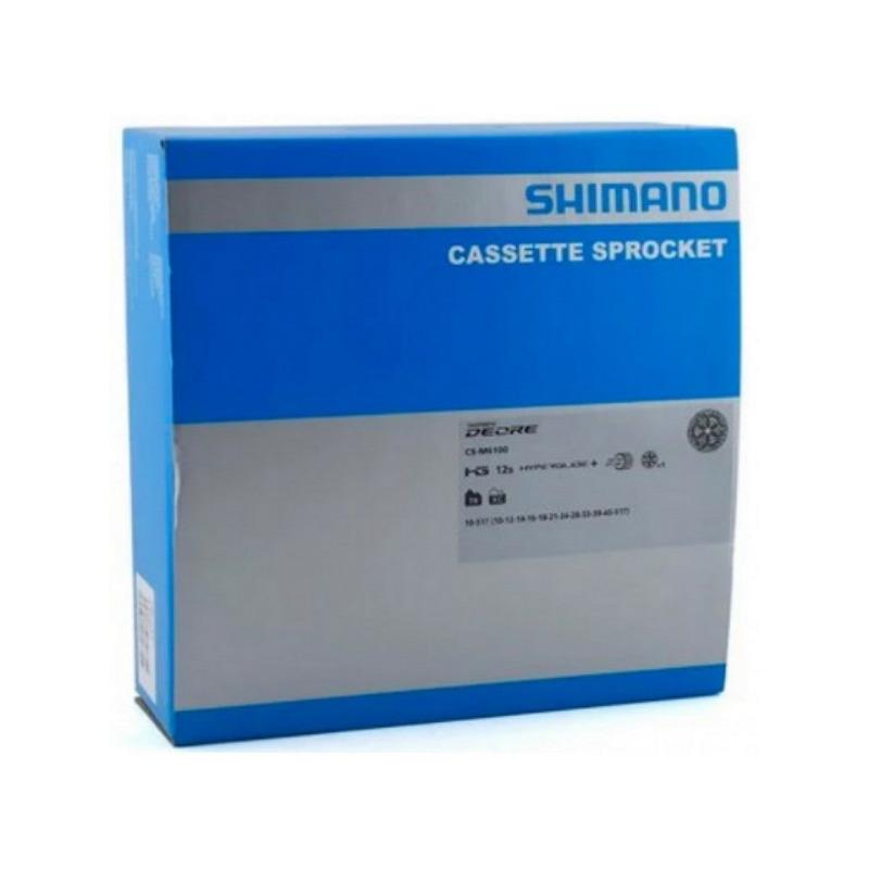 CASSETE SHIMANO DEORE M6100 CS-M6100 10/51D + CORRENTE CN-M6100 126 ELOS - 12V - MICRO SPLINE
