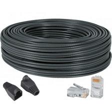 Cable De Red X 4 Metros Utp Armado Fichas Y Capuchon