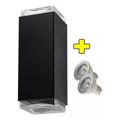 Difusor Bidireccional Exterior Con 2 Lamparas Gu10 Led