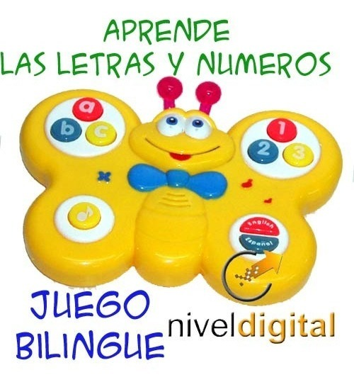 Juego Didactico Bilingue Letras Numeros Musica Luz Ingles