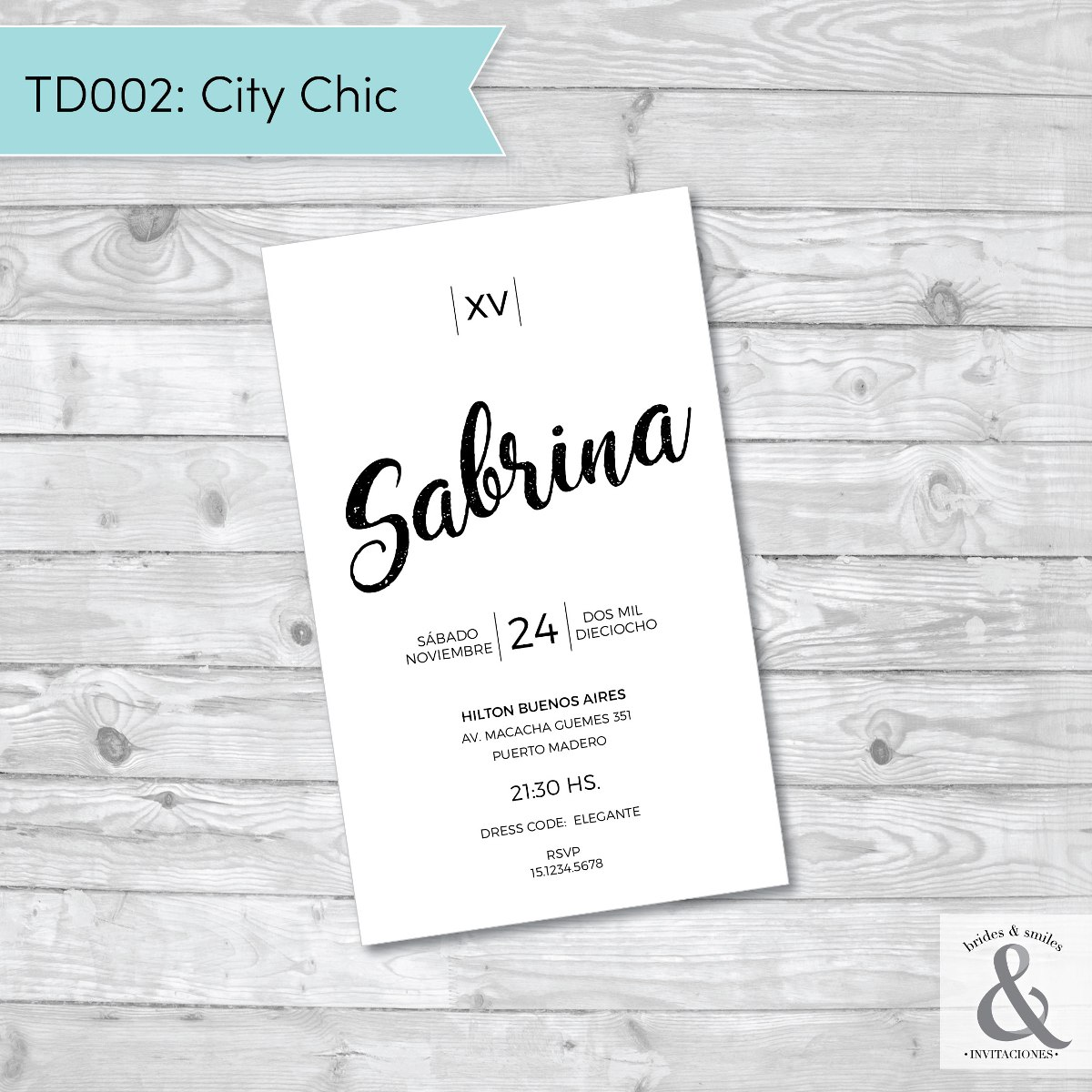 Invitación digital TD002 (City Chic)